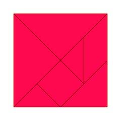 Neon Color - Luminous Vivid Crimson Acrylic Tangram Puzzle (6  x 6 )