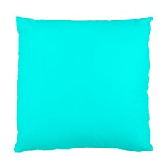 Neon Color - Luminous Vivid Cyan Standard Cushion Case (Two Sides)