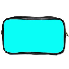 Neon Color - Luminous Vivid Cyan Toiletries Bags