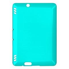 Neon Color - Luminous Vivid Cyan Kindle Fire HDX Hardshell Case