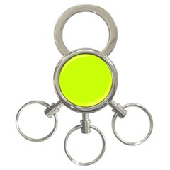 Neon Color - Luminous Vivid Lime Green 3-Ring Key Chains