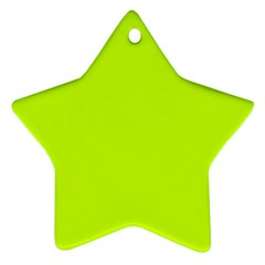 Neon Color - Luminous Vivid Lime Green Star Ornament (Two Sides)