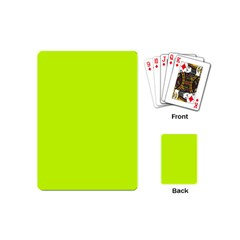 Neon Color - Luminous Vivid Lime Green Playing Cards (Mini)