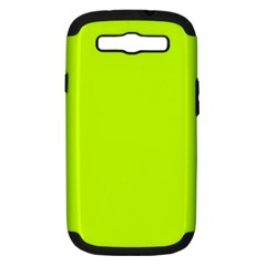 Neon Color - Luminous Vivid Lime Green Samsung Galaxy S III Hardshell Case (PC+Silicone)