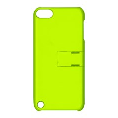Neon Color - Luminous Vivid Lime Green Apple iPod Touch 5 Hardshell Case with Stand