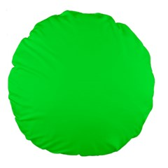 Neon Color - Luminous Vivid Malachite Green Large 18  Premium Flano Round Cushions