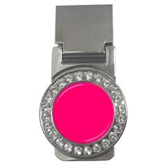 Neon Color - Luminous Vivid Raspberry Money Clips (CZ)