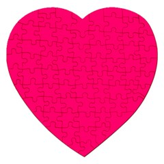 Neon Color - Luminous Vivid Raspberry Jigsaw Puzzle (Heart)