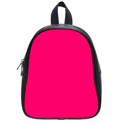 Neon Color - Luminous Vivid Raspberry School Bags (Small)