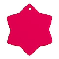 Neon Color - Luminous Vivid Raspberry Snowflake Ornament (Two Sides)