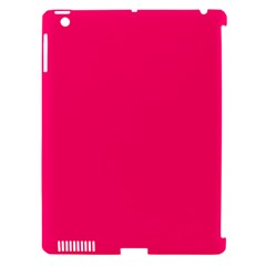 Neon Color - Luminous Vivid Raspberry Apple iPad 3/4 Hardshell Case (Compatible with Smart Cover)