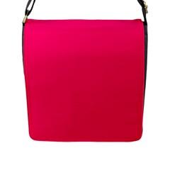 Neon Color - Luminous Vivid Raspberry Flap Messenger Bag (L)