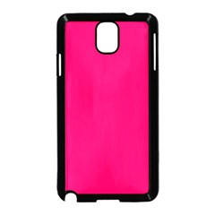 Neon Color - Luminous Vivid Raspberry Samsung Galaxy Note 3 Neo Hardshell Case (Black)