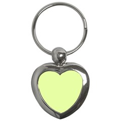 Neon Color - Pale Lime Green Key Chains (Heart)