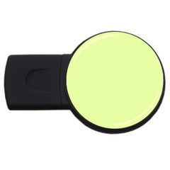 Neon Color - Pale Lime Green USB Flash Drive Round (4 GB)