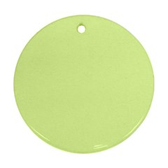 Neon Color - Pale Lime Green Round Ornament (Two Sides)