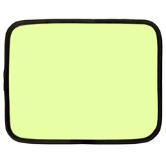 Neon Color - Pale Lime Green Netbook Case (XL)
