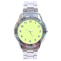 Neon Color - Pale Lime Green Stainless Steel Analogue Watch