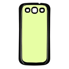 Neon Color   Pale Lime Green Samsung Galaxy S3 Back Case (black)
