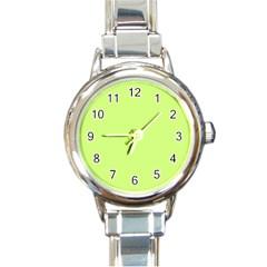 Neon Color - Very Light Spring Bud Round Italian Charm Watch