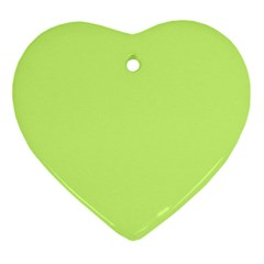 Neon Color - Very Light Spring Bud Ornament (Heart)