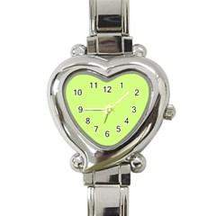 Neon Color - Very Light Spring Bud Heart Italian Charm Watch