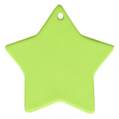 Neon Color - Very Light Spring Bud Star Ornament (Two Sides)