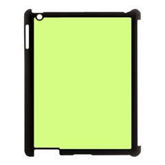 Neon Color - Very Light Spring Bud Apple iPad 3/4 Case (Black)