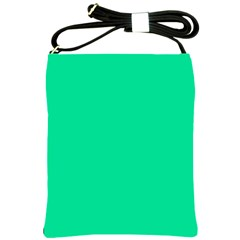 Neon Color - Vivid Aquamarine Shoulder Sling Bags