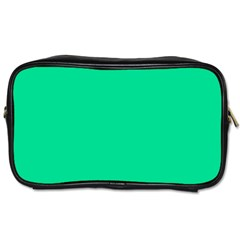 Neon Color - Vivid Aquamarine Toiletries Bags