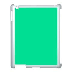 Neon Color - Vivid Aquamarine Apple iPad 3/4 Case (White)