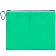 Neon Color - Vivid Aquamarine Canvas Cosmetic Bag (XXXL)