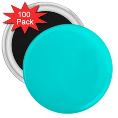 Neon Color - Vivid Cyan 3  Magnets (100 pack)