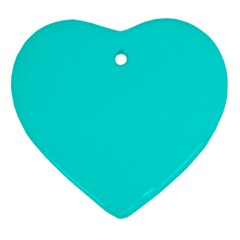 Neon Color - Vivid Cyan Heart Ornament (Two Sides)