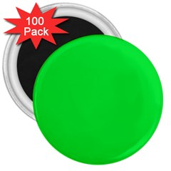 Neon Color - Vivid Malachite Green 3  Magnets (100 pack)