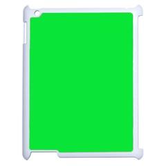 Neon Color   Vivid Malachite Green Apple Ipad 2 Case (white)