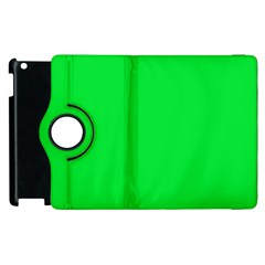 Neon Color - Vivid Malachite Green Apple iPad 3/4 Flip 360 Case