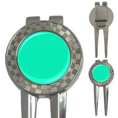 Neon Color - Vivid Turquoise 3-in-1 Golf Divots