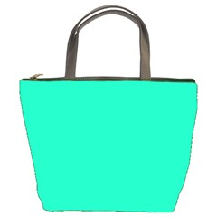 Neon Color - Vivid Turquoise Bucket Bags