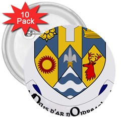 County Clare Coat of Arms 3  Buttons (10 pack)