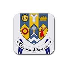 County Clare Coat of Arms Rubber Square Coaster (4 pack)