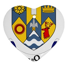 County Clare Coat of Arms Heart Ornament (Two Sides)