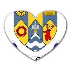 County Clare Coat of Arms Heart Mousepads