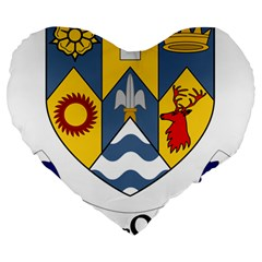 County Clare Coat of Arms Large 19  Premium Flano Heart Shape Cushions