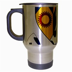 County Clare Coat Of Arms Travel Mug (silver Gray)