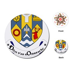 County Clare Coat of Arms Playing Cards (Round)