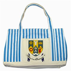 County Clare Coat of Arms Striped Blue Tote Bag