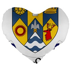 County Clare Coat of Arms Large 19  Premium Heart Shape Cushions