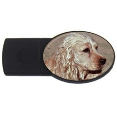 Golden Cocker spaniel USB Flash Drive Oval (1 GB)