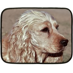 Golden Cocker spaniel Double Sided Fleece Blanket (Mini)